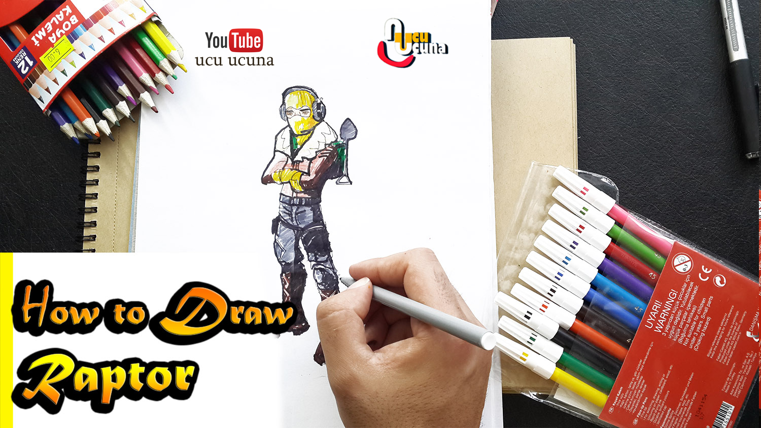 How to draw raptor step by step tutorial youtube channel name is ucu ucuna