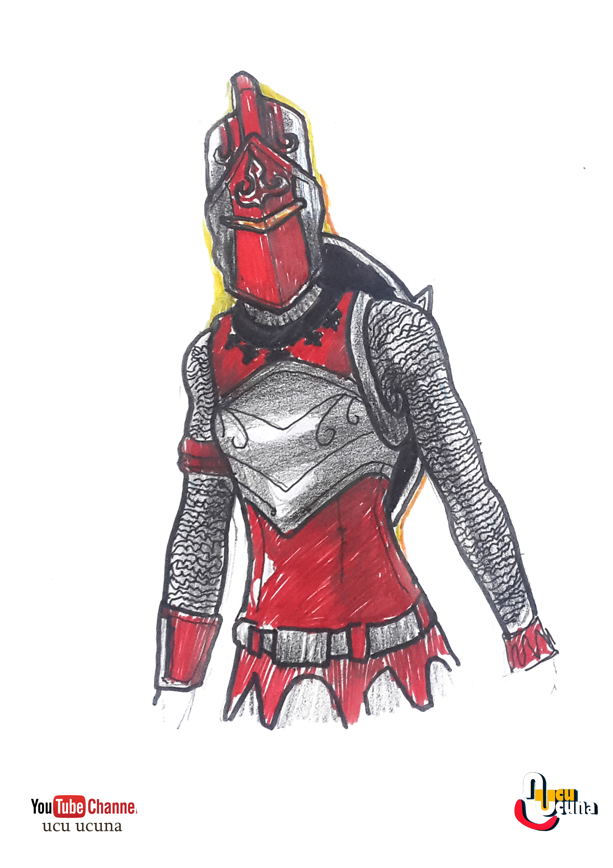 How To Draw Red Knight Color