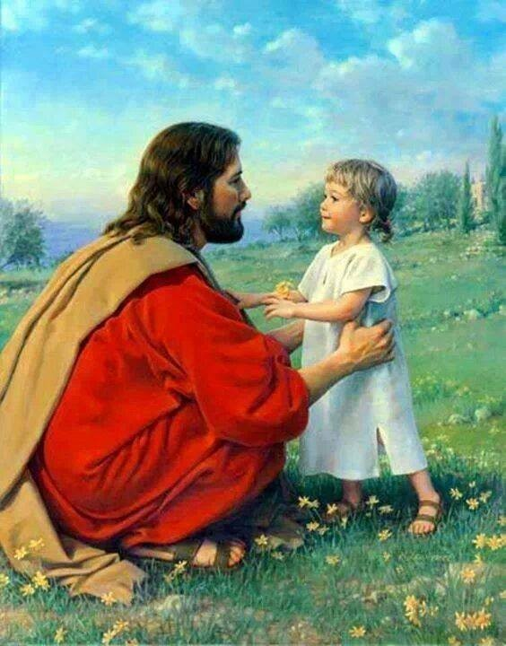 Jesus with Child drawing