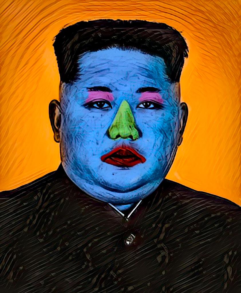 A pop art image of kim