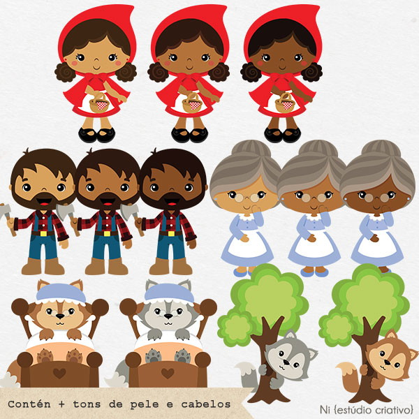 Little Red Riding Hood clipart cute black girl cliparts