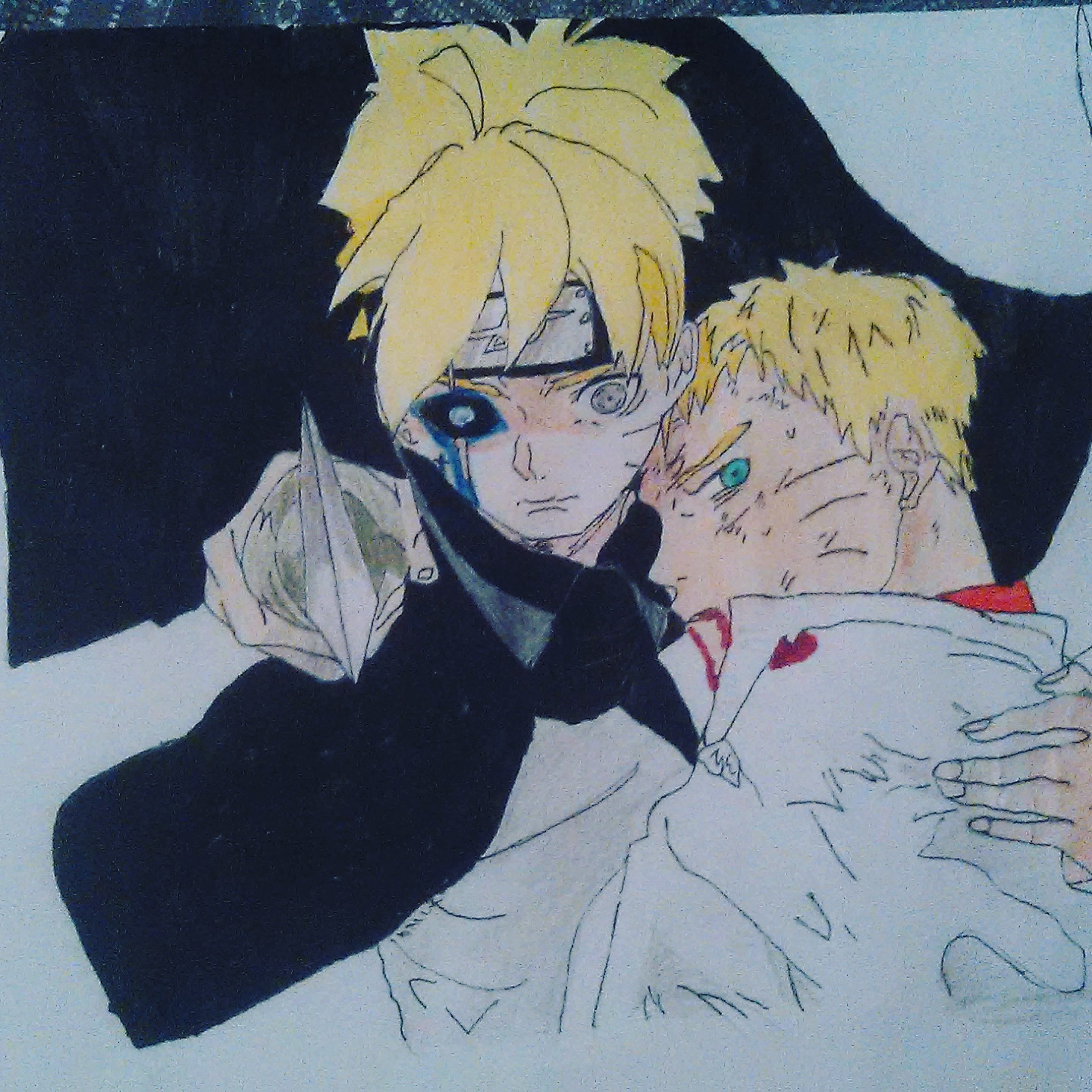 My Drawing Of Naruto And Boruto