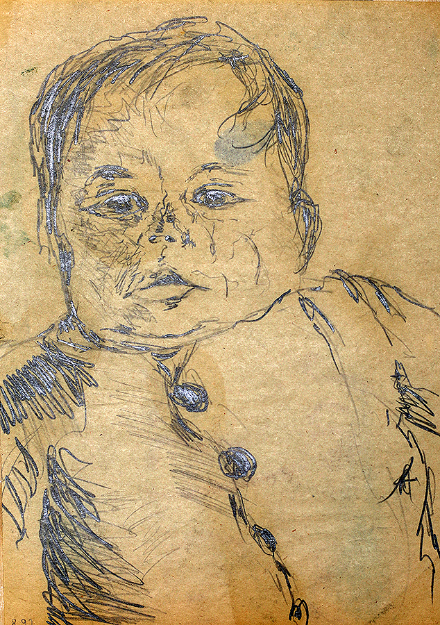Portrait Drawing Of A Child By Raphael Perez