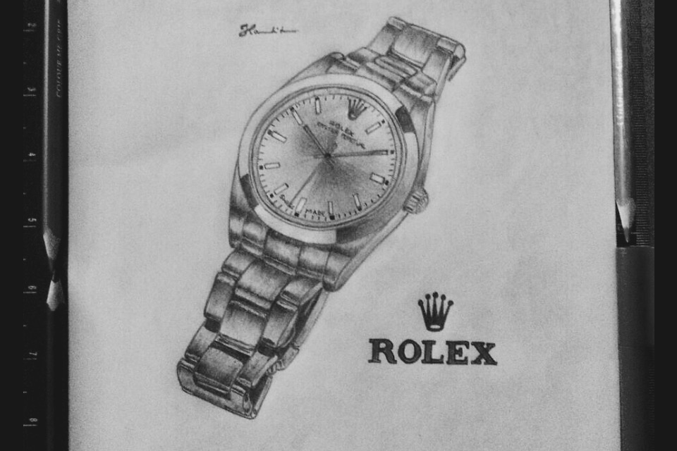 Rolex Watch Drawing