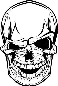 Skull winking