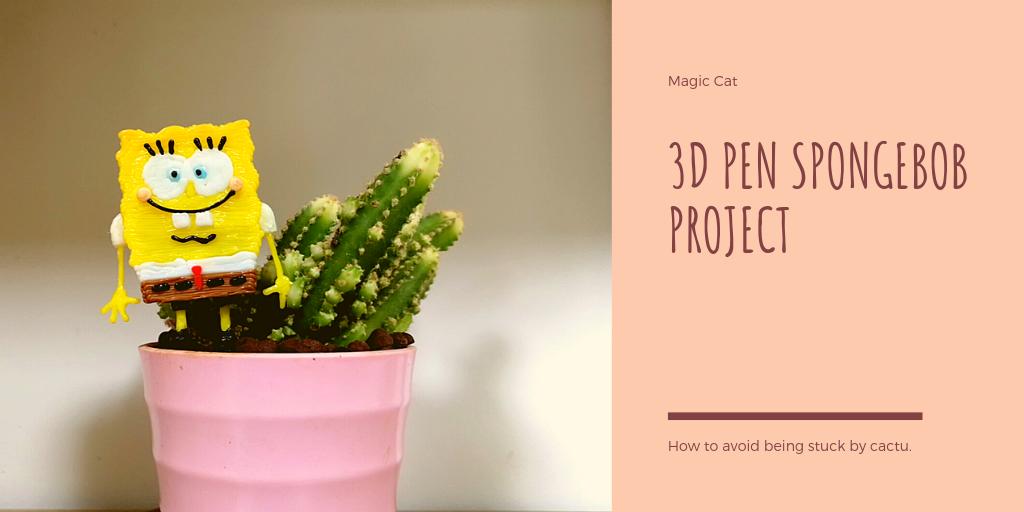 Spongebob Magic Cat 3D Pen Creation Model