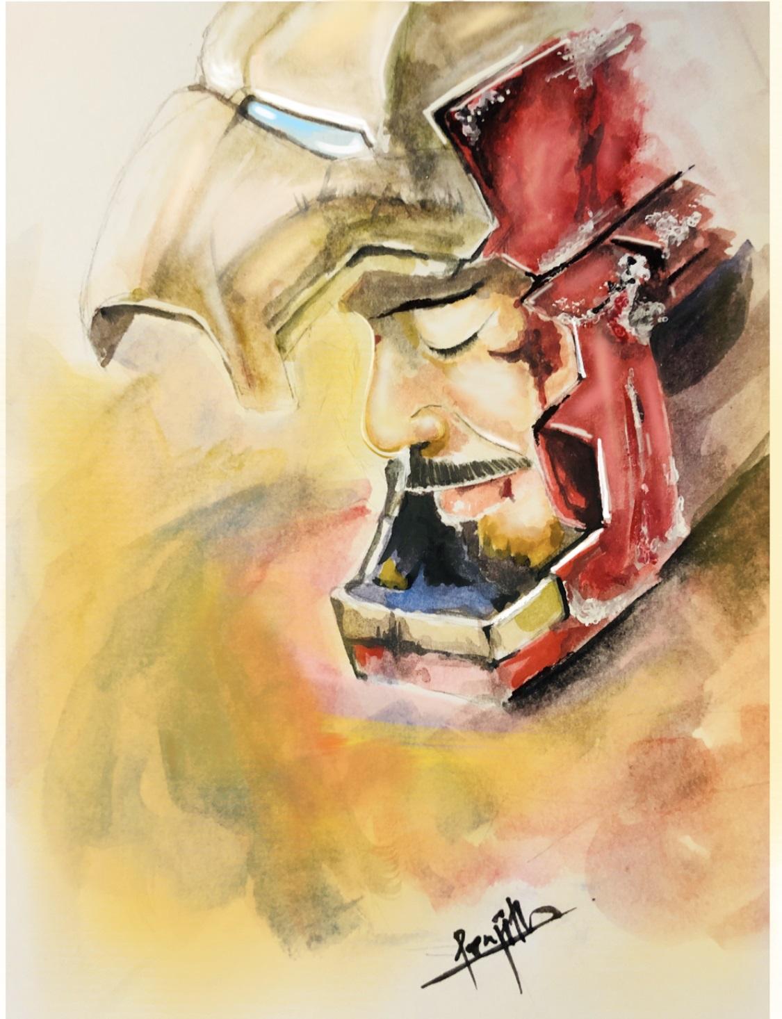 Superhero Watercolor Art