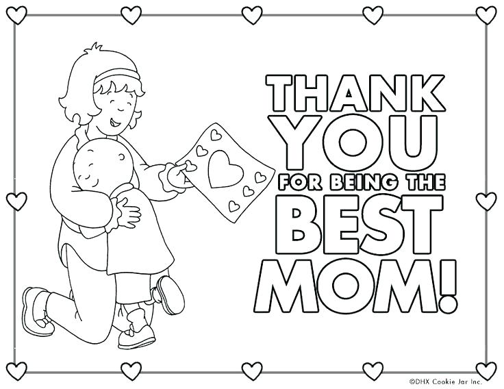 Thank You Mom Drawing