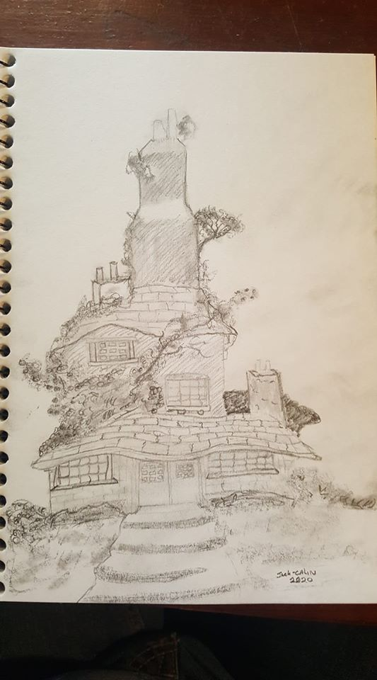 Drawing of a tree house i did, im trying to get back into drawing