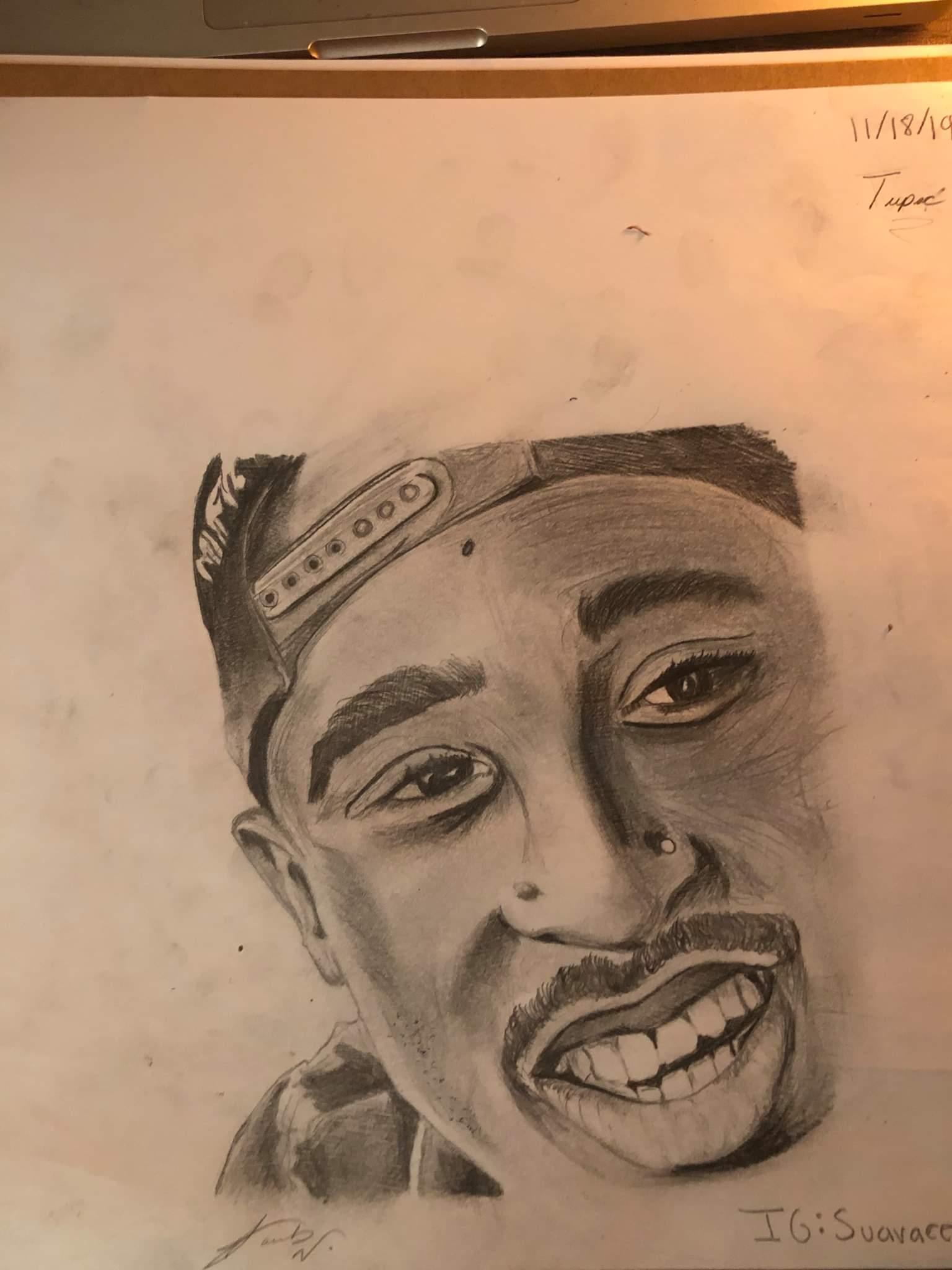 Tupac Shakur drawing