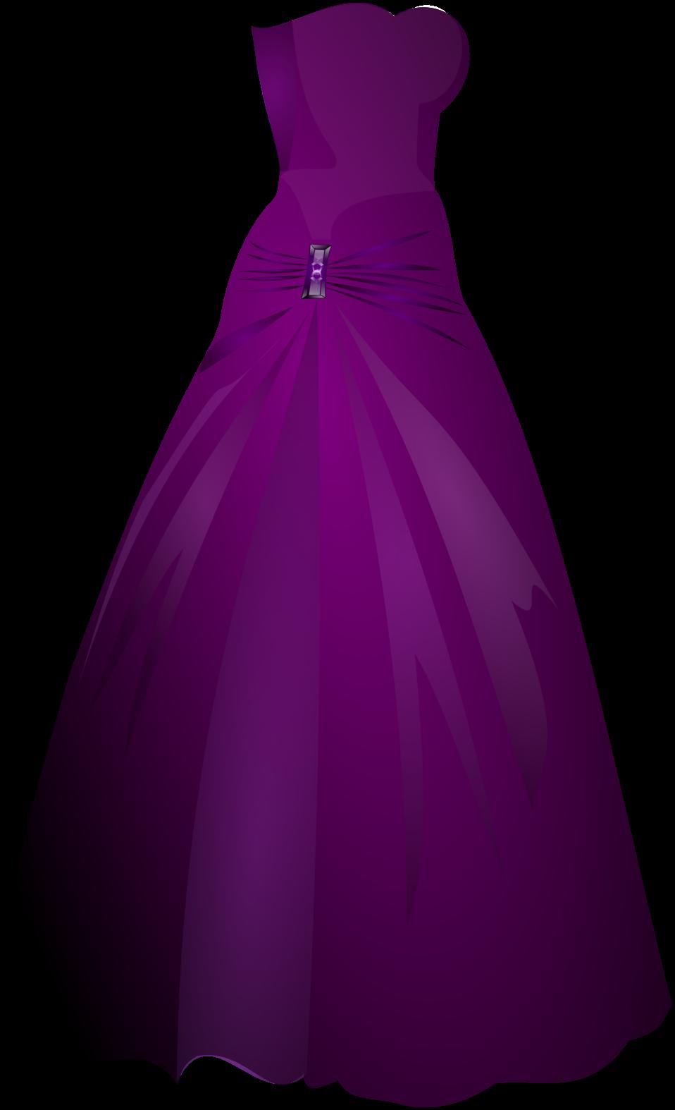Violet Dress Clipart