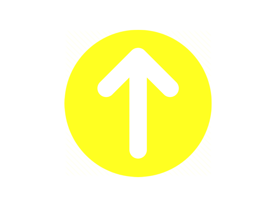Yellow circle with upward white arrow