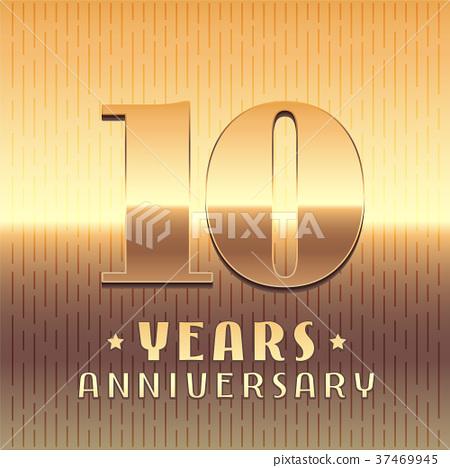 450x468 10 Years Anniversary Vector Icon, Symbol