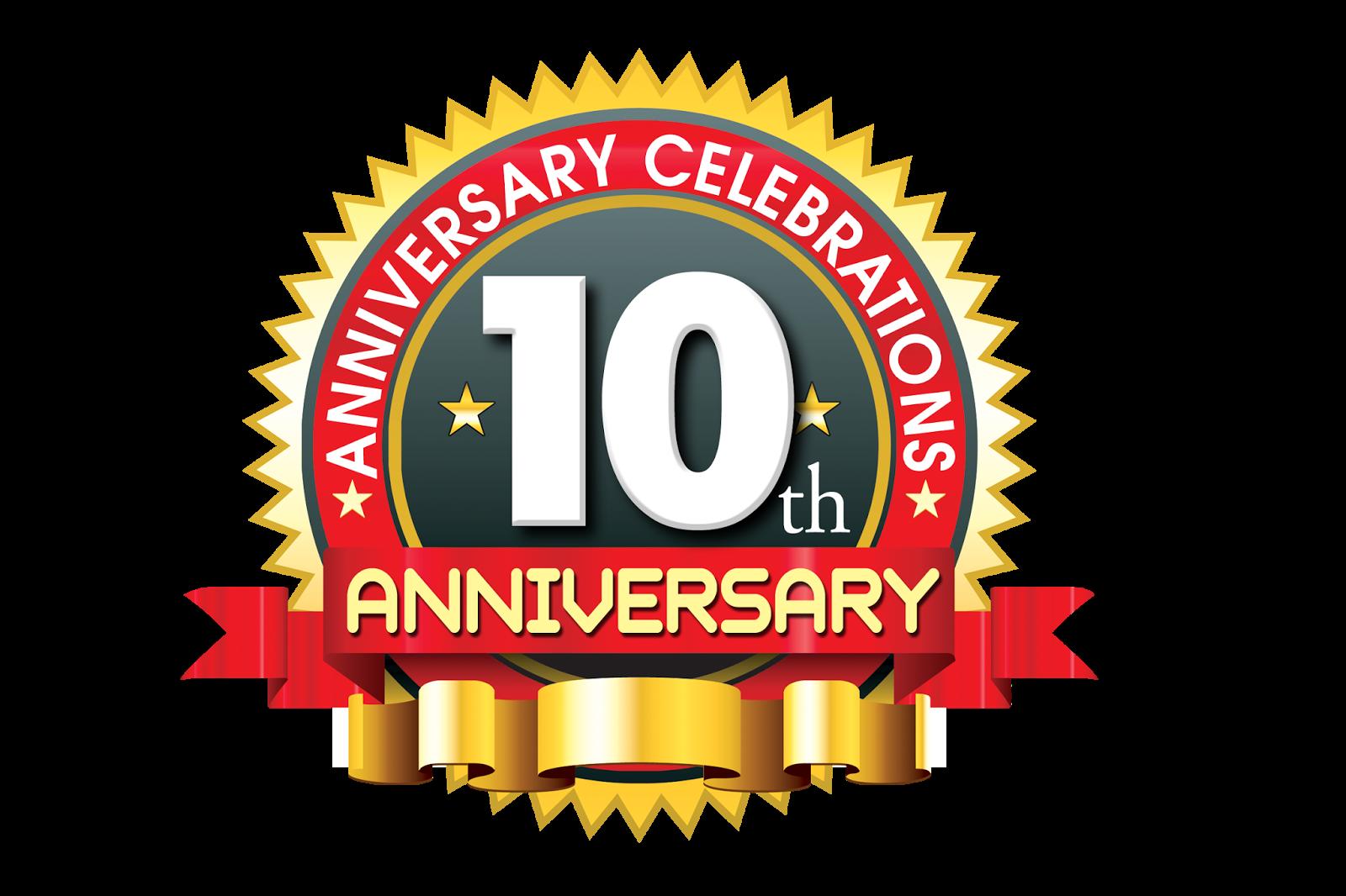 1600x1066 10th Anniversary Logo,10 Year Anniversary Creative Concept Vector
