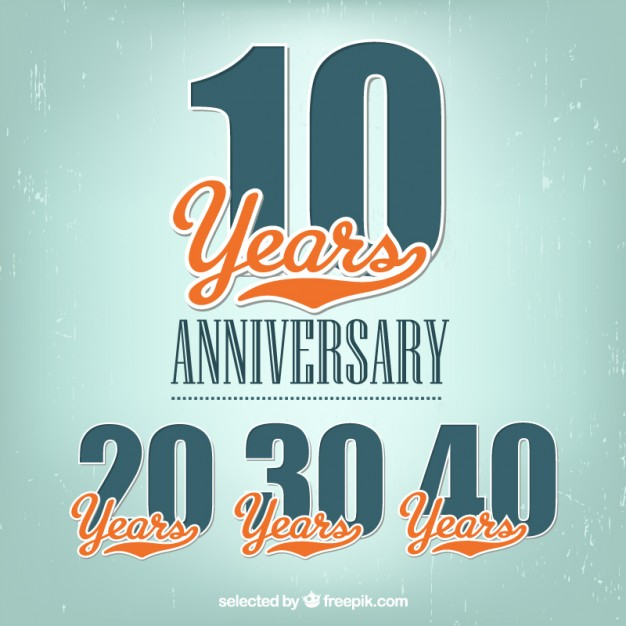 626x626 Anniversary Labels Vector Free Download