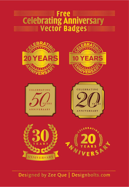 416x600 Free Celebrating 20 Years Anniversary Vector Badges Free Vector In