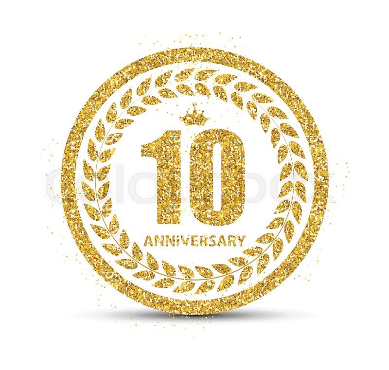 800x761 Template Logo 10 Years Anniversary Vector Illustration Eps10