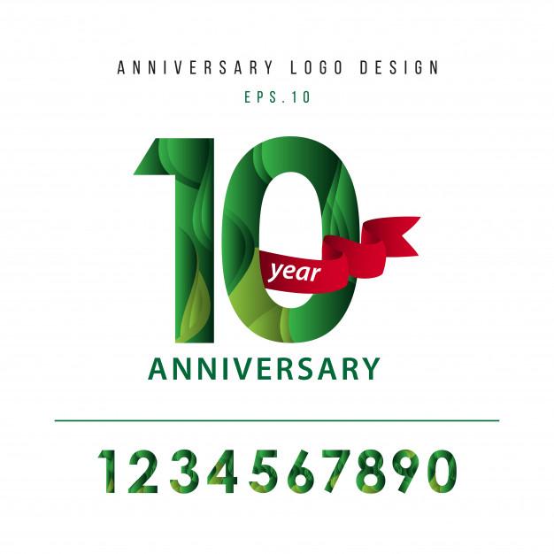 626x626 10 Year Anniversary Vector Template Design Illustration Vector