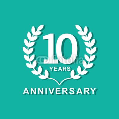 400x400 10 Years Anniversary Vector Template Design Illustration Buy