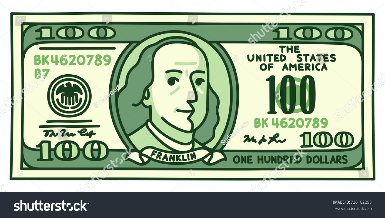 1500x850 Collection Of 100 Dollar Bill Drawing High Quality, Free
