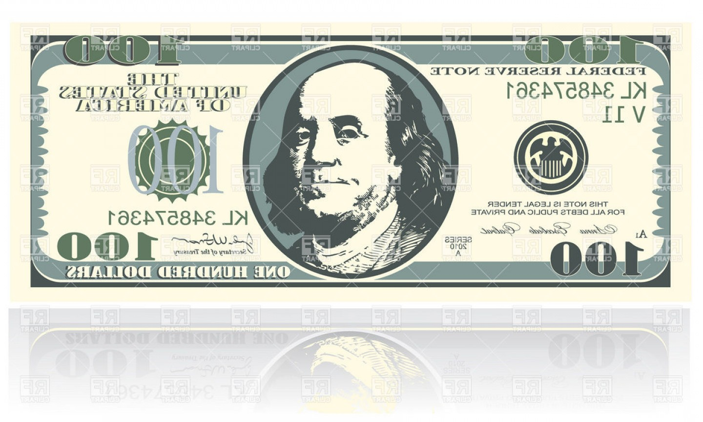 1440x864 One Hundred Dollars Banknote Vector Clipart Lazttweet