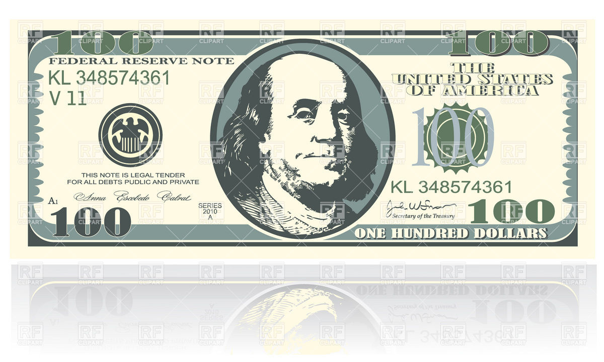 1200x720 One Hundred Dollars Banknote Vector Image Vector Artwork Of
