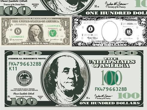 491x368 Vector Us Dollar Bills Free Vector Download (788 Free Vector) For