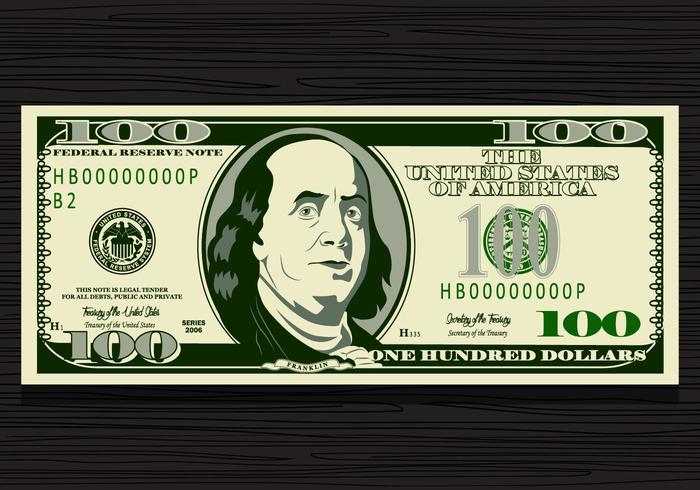 700x490 100 Dollar Bill Vector