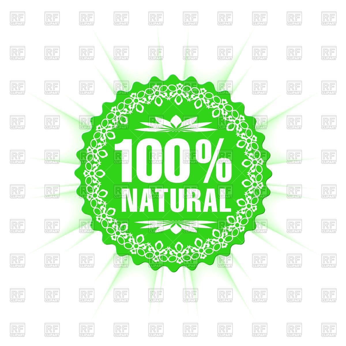 1200x1200 100% Natural Guarantee Label Vector Image Vector Artwork Of