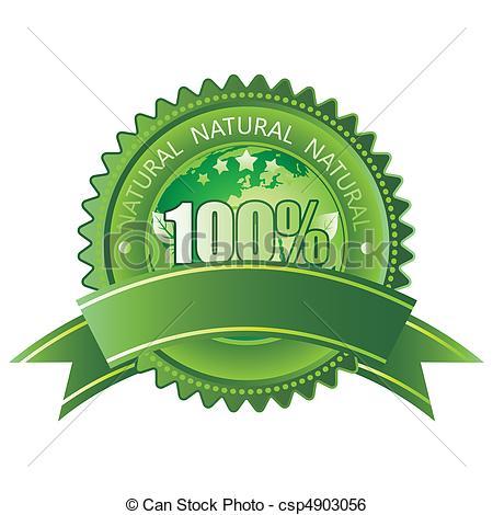 450x470 100% Natural. 100% Vector Natural Sign.