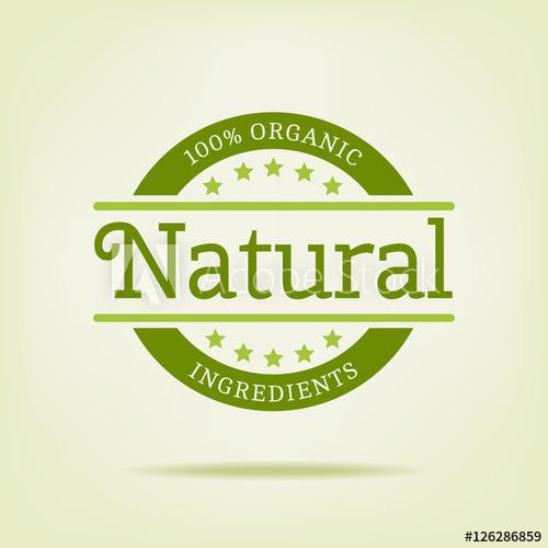500x500 100% Organic Natural Vector Logo. Logotype Template Vintage