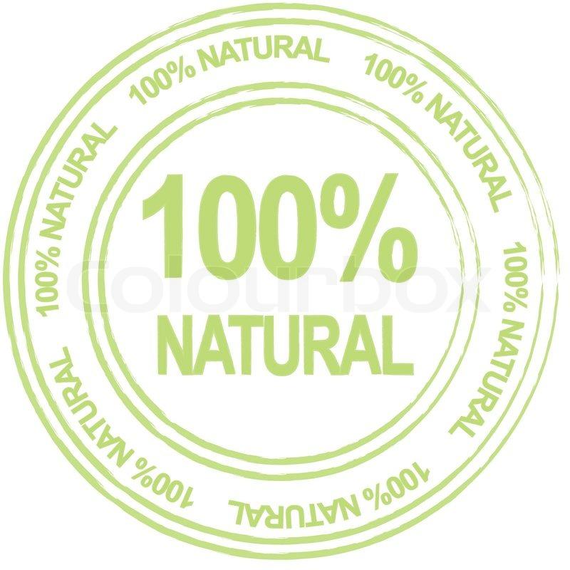 800x800 100 Percent Natural, Vector Label Stock Vector Colourbox