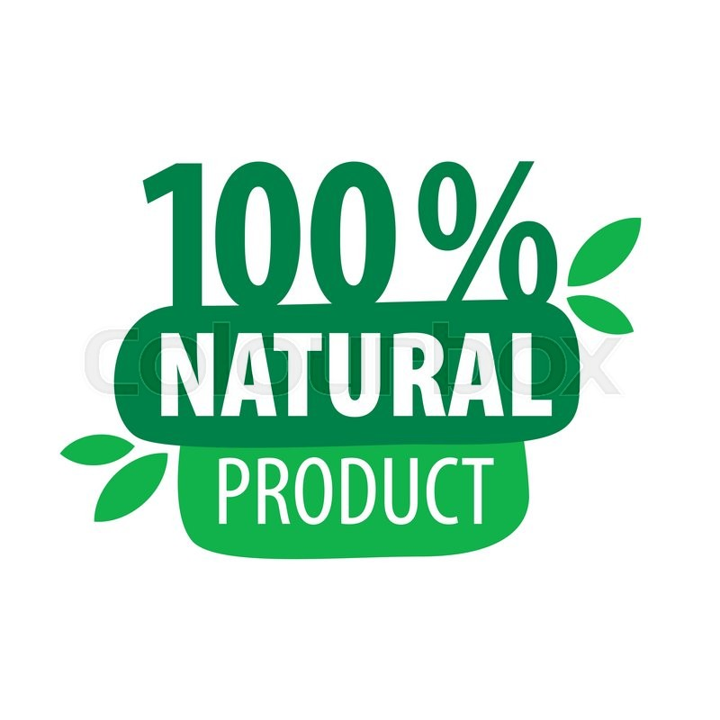800x800 Green Vector Logo For 100% Natural Products Stock Vector Colourbox