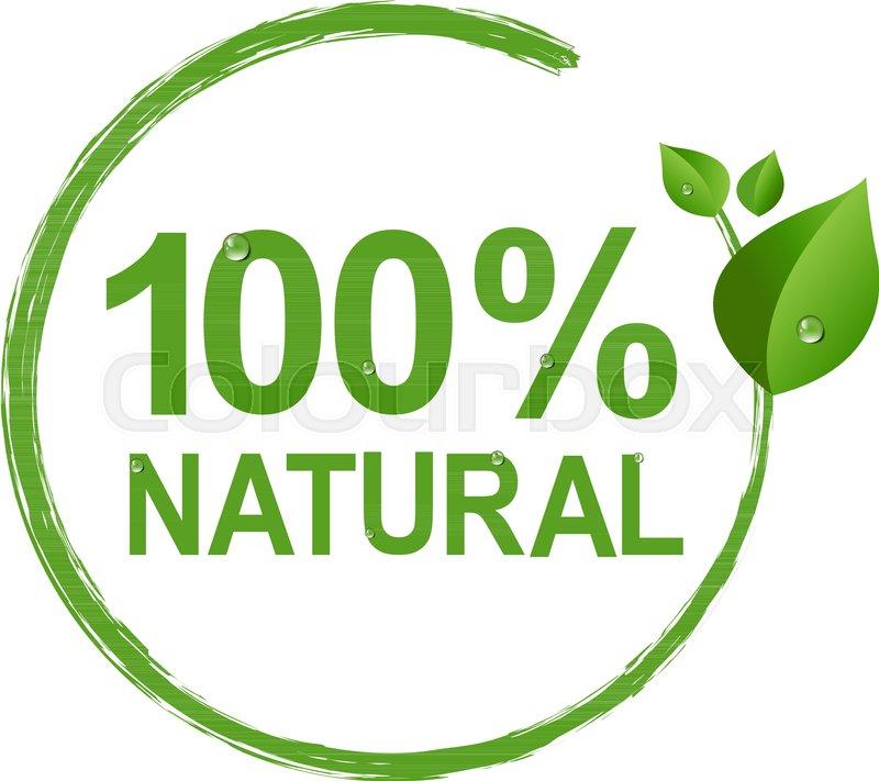800x711 100% Natural Logo Symbol Transparent Background, Vector