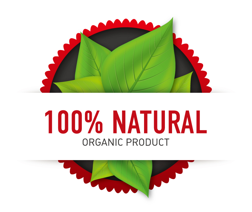 810x682 100% Natural Organic Product Vector Free Vector Graphic Download