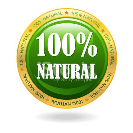 440x440 100% Natural Vector Badge Stock Vector