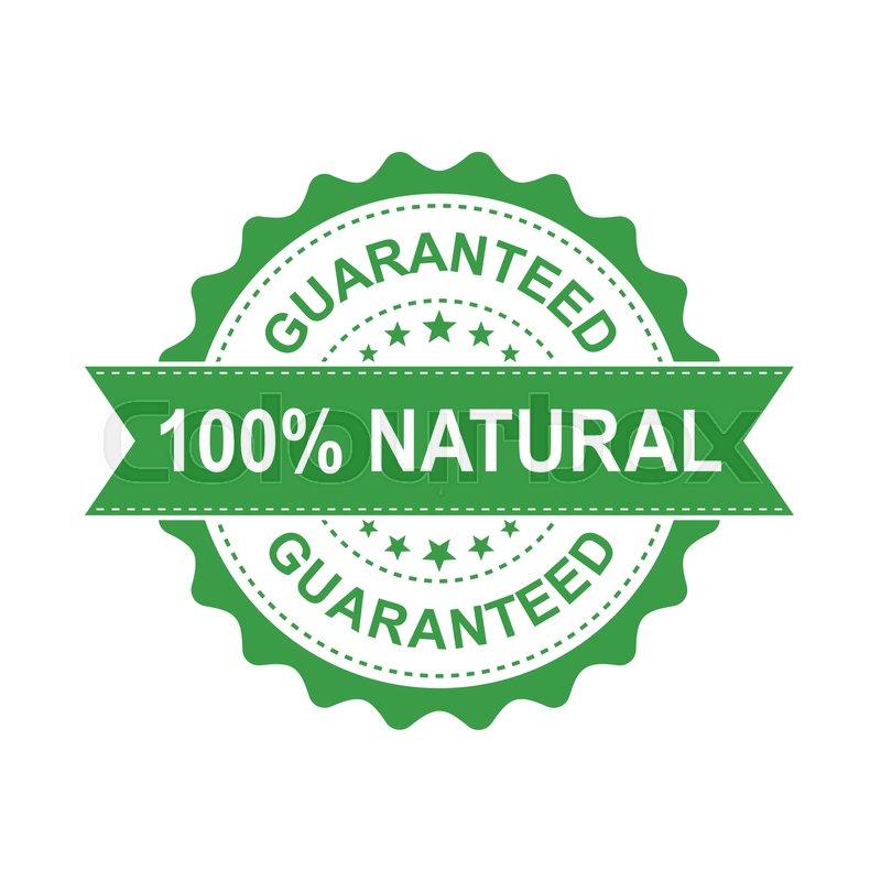 800x800 100% Natural Grunge Rubber Stamp. Vector Illustration On White