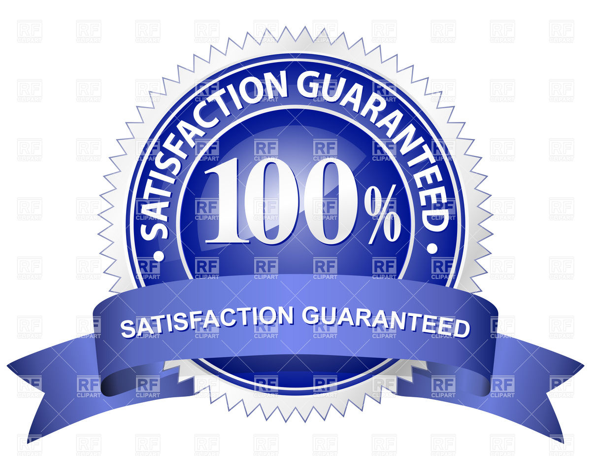 100 Satisfaction Guarantee Vector