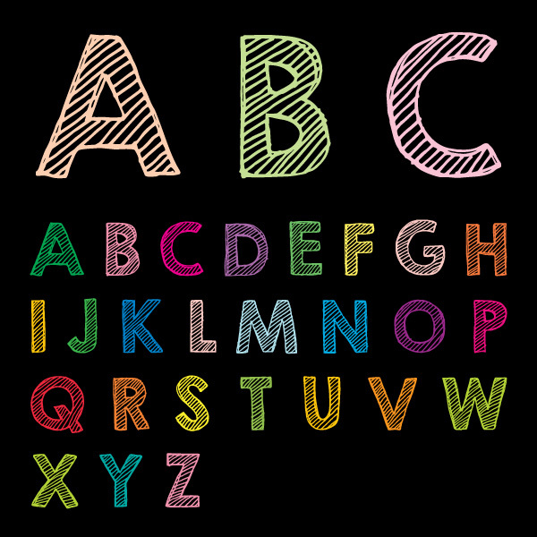 600x600 Free Vectors Free Chalk Drawn Abc Vector 123 Rf