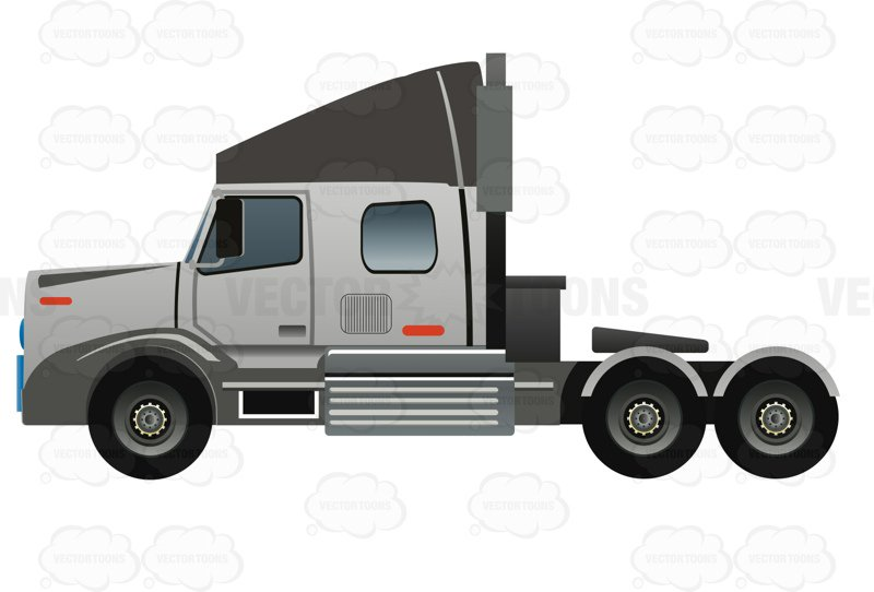 800x542 18 Wheeler Clipart By Vector Toons