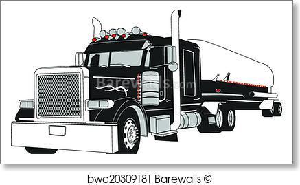 437x269 Art Print Of Semi Tanker Truck Barewalls Posters Amp Prints