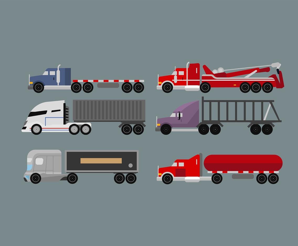 1136x936 18 Wheeler Truck Vector Vector Art Amp Graphics