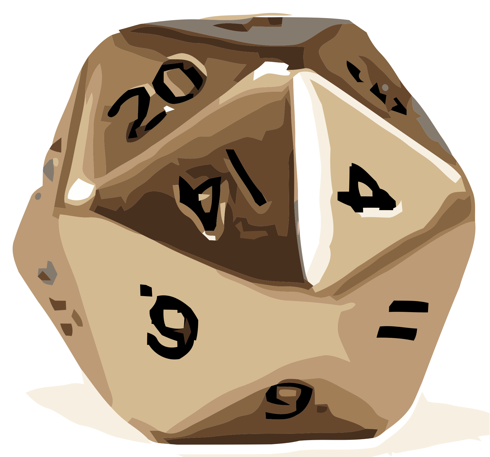 20 Sided Dice Vector