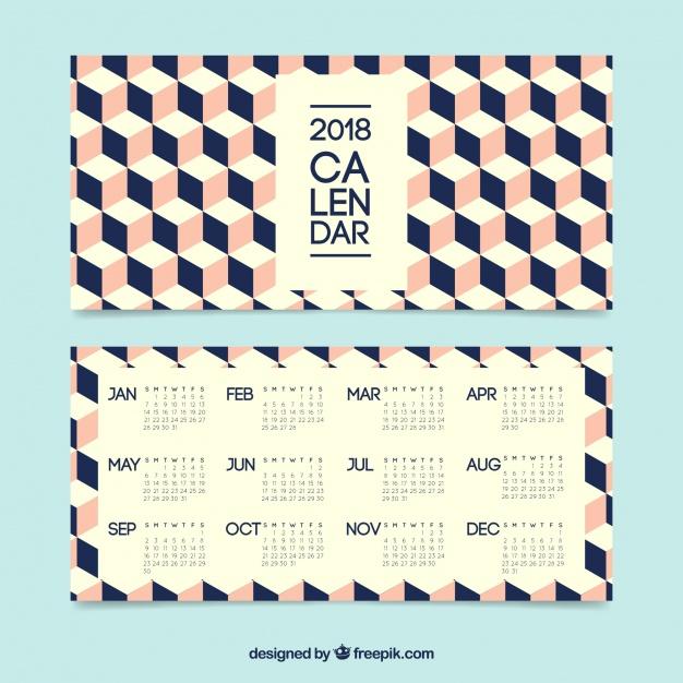 626x626 Creative Calendar 2018 Vector Free Download