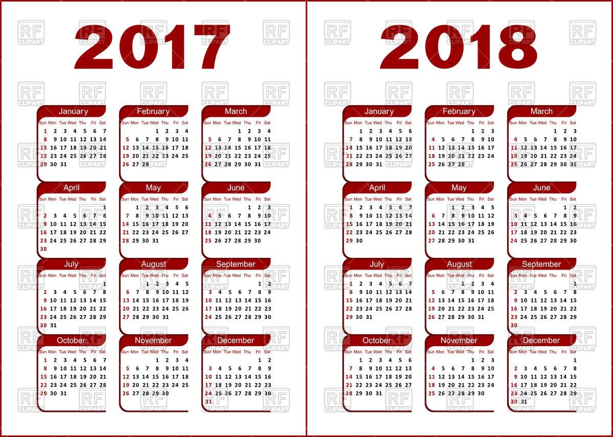 1200x856 Free Download 2018 Calendar Vector Jill Davis Design