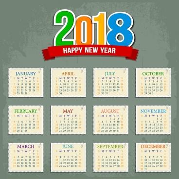 368x368 2018 Calendar Vector Free Vector Download (1,547 Free Vector) For