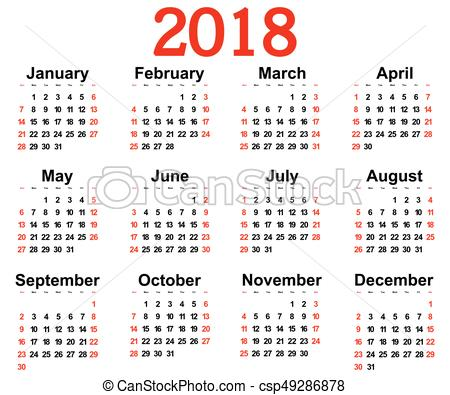 450x395 Great New Wall Calendar 2018. Illustration. Great New Wall