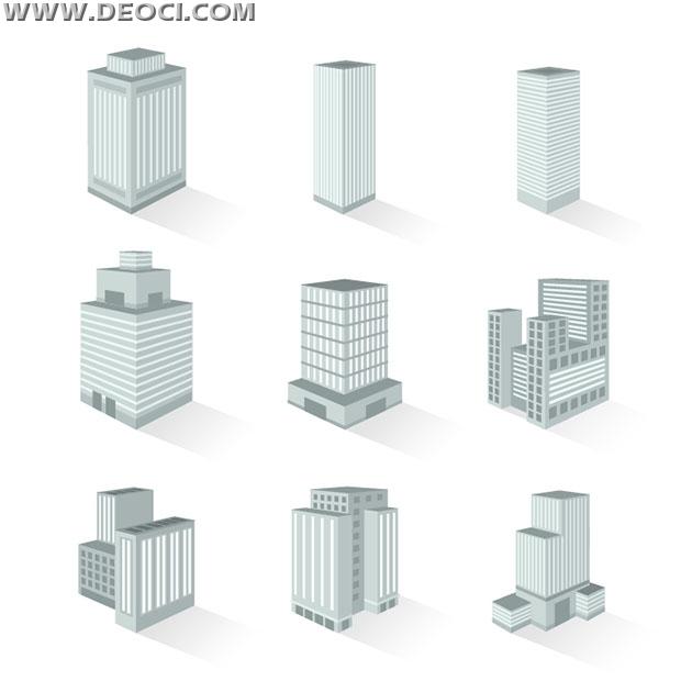620x620 9 Building Construction 3d Graphic Design Templates