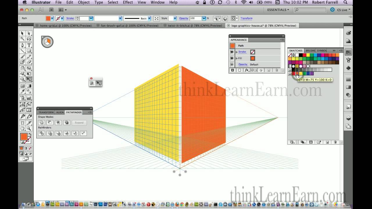 1280x720 Adobe Illustrator Cs6 Build A Perspective 3d Building With