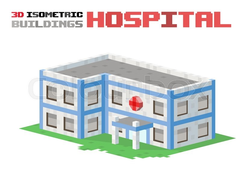 800x584 Buildings Vector Illustration. 3d Buildings Isolated On White
